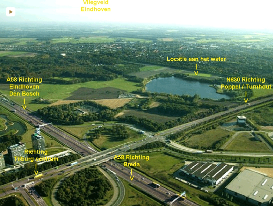Direct aan A58 kantoorpand droogdokkeneiland tilburg